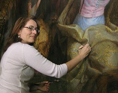Martine Lemot Restauration de tableaux l'Yonne