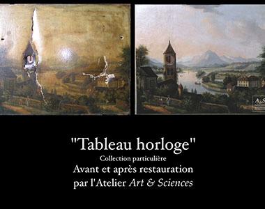 Réalisation Martine Lemot Restauration de tableaux l'Yonne